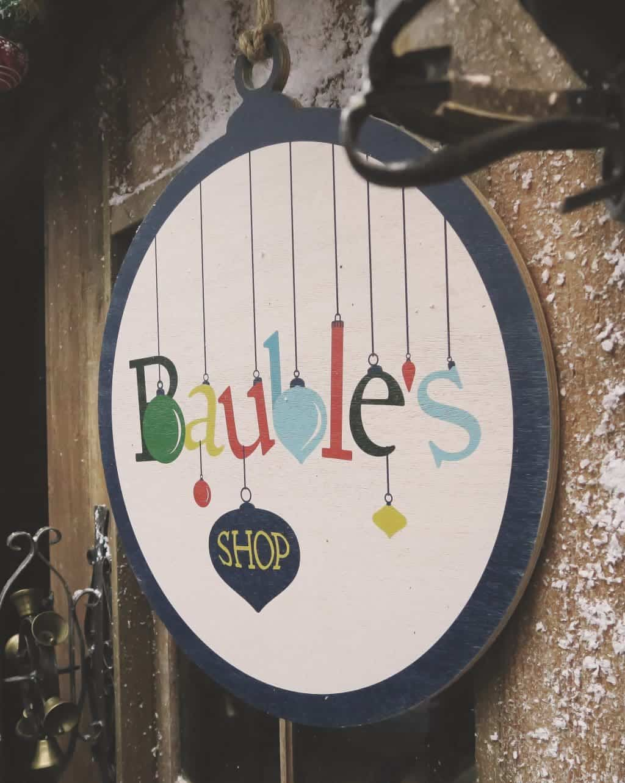 The Bauble shop at Lapland UK