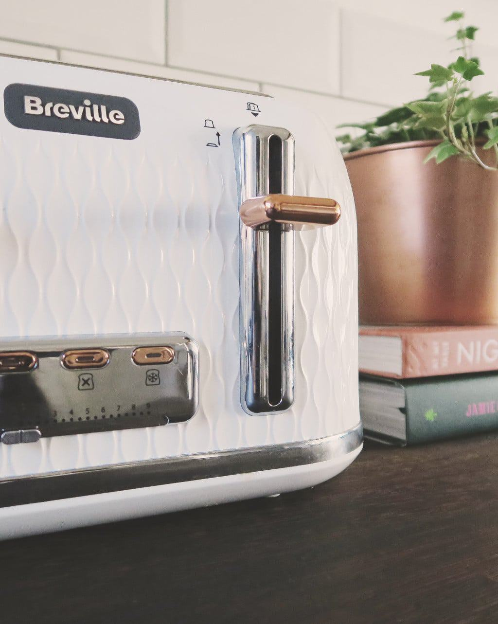 the Breville Curve Toaster — rose gold accents