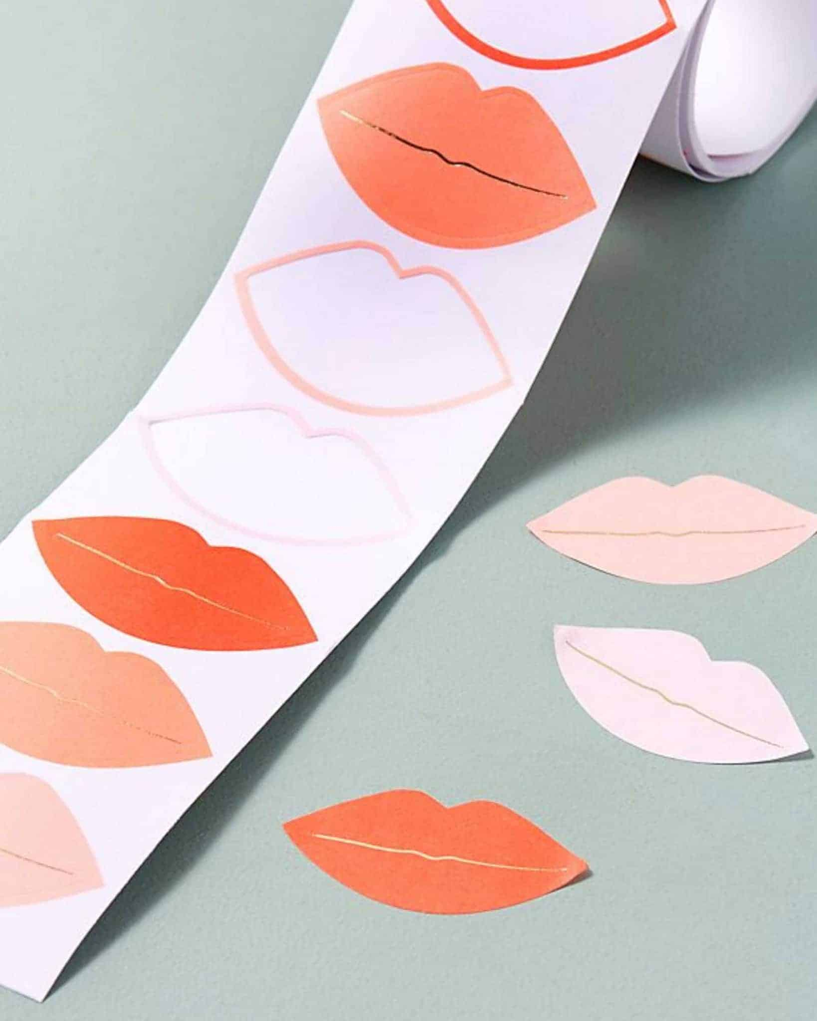 favourite picks Valentine's Day Lip Stickers from Anthropologie