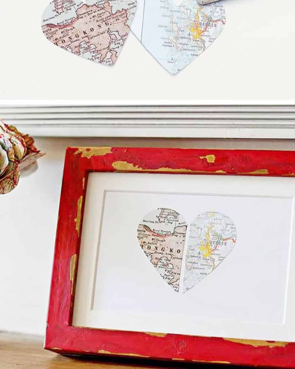 Home etc | Gorgeous Heart Map Gift tutorial