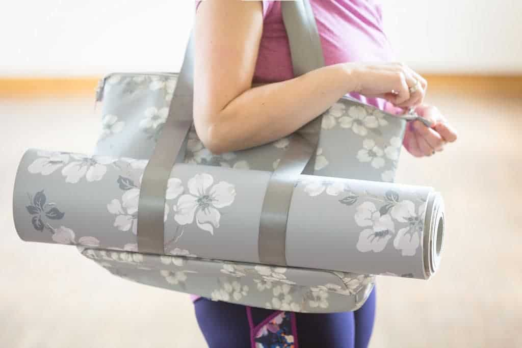 How Pilates Changed My Life   in Joules activewear with Laura Ashley gym bag