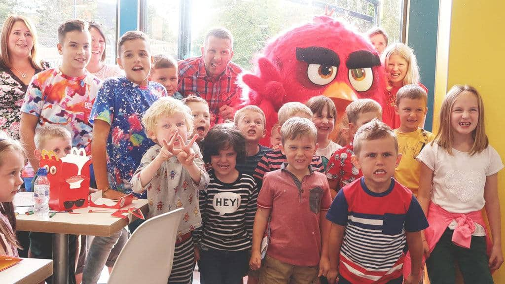 McDonald's Character Visits — Angry Birds — Family Fun