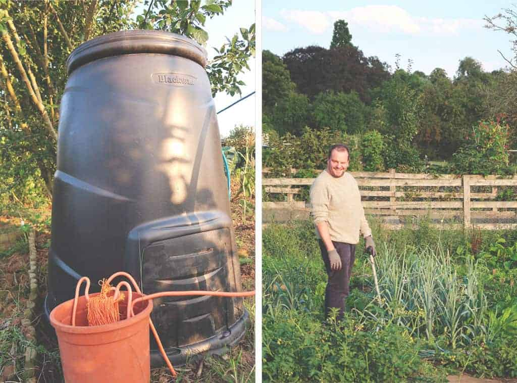 Going Plastic Free For a Week {The Sustainability Challenge} - compost bin