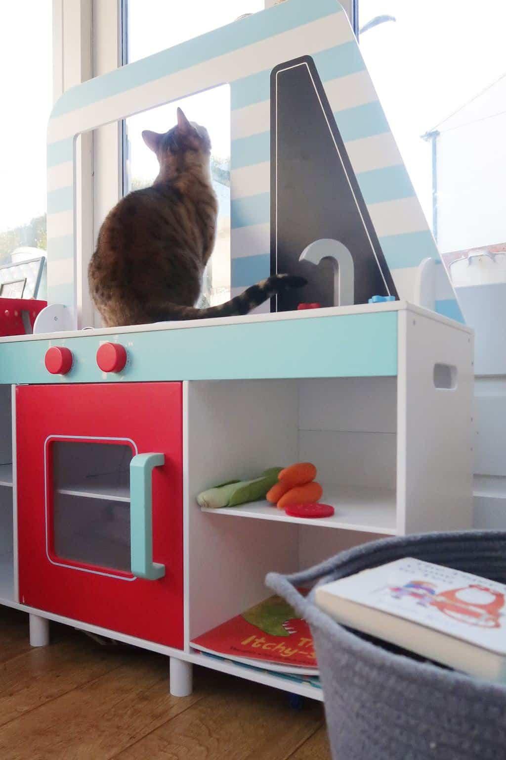 Seren in her favourite spot on the GLTC Festival Food Van