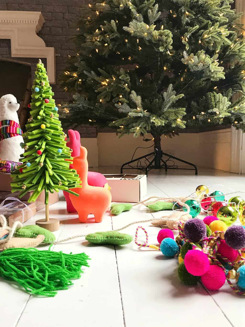 Mexican inspired Christmas tree decorations from HomeSense for The Style at Home Christmas Tree Challenge