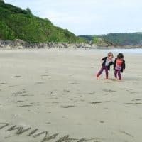 The beach at Looe