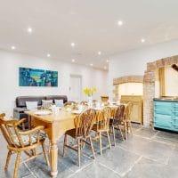 The kitchen at Pendriffey cottage, Looe | Image courtesy of Cornish Horizons