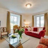 The sitting room at Pendriffey cottage, Looe | Image courtesy of Cornish Horizons