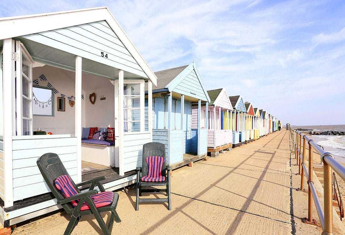 The Glory Hut beach hut exterior from Suffolk Secrets