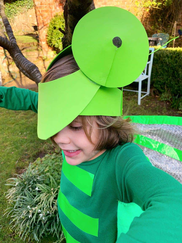 How to make a Grasshopper Costume DIY tutorial