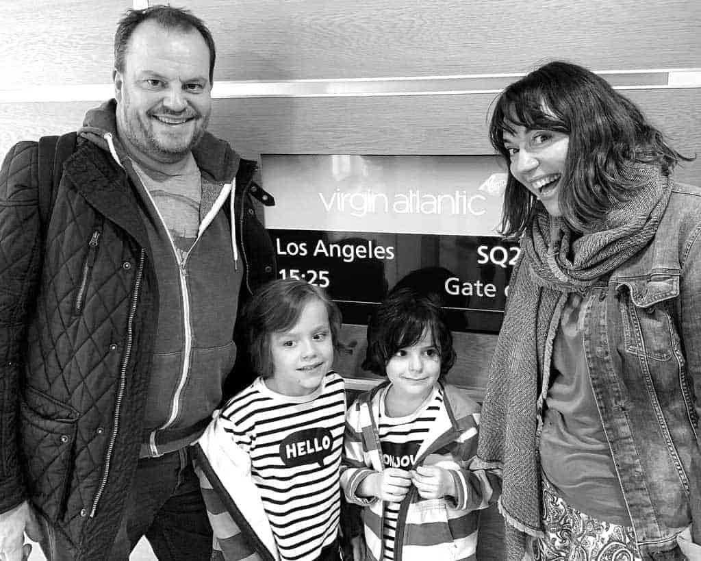 family road trip from LA to San Fran — boarding the plane