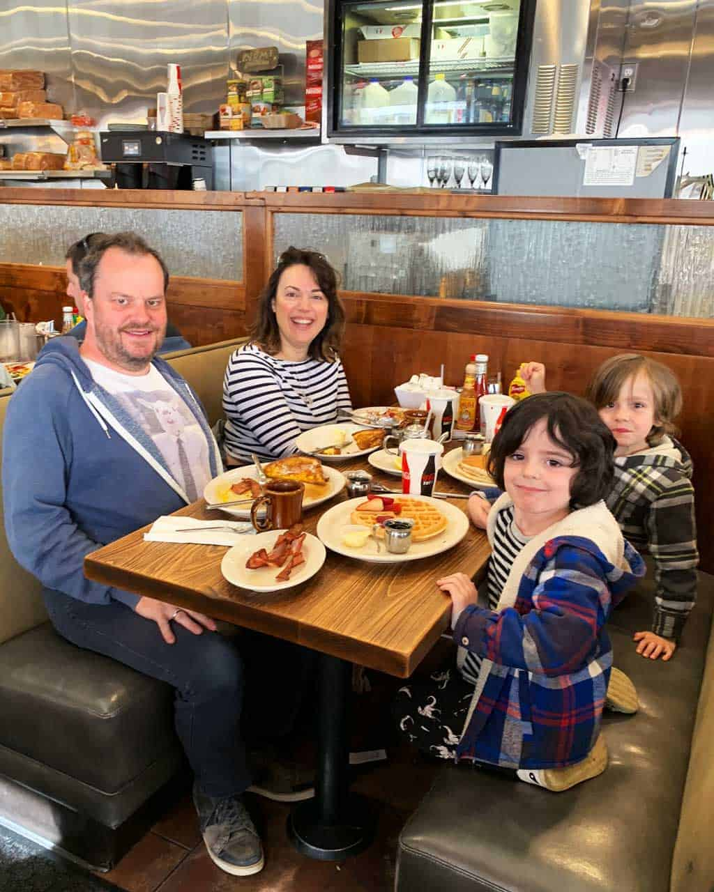 Family breakfast at The Pinecrest Diner.