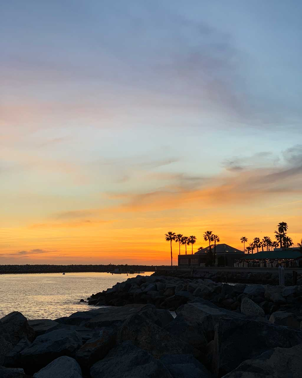 Our Family road trip from LA to San Fran — Sunset over Redondo Beach