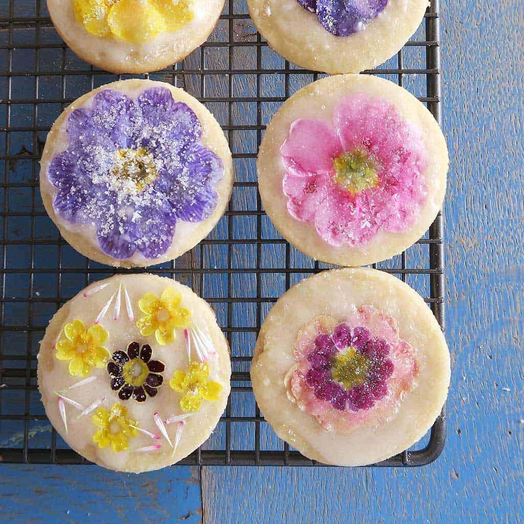 edible flower shortbread cookies recipe