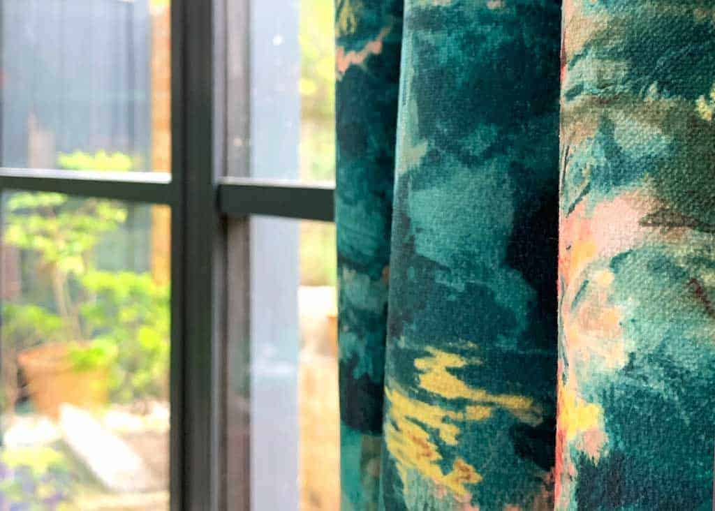 Bespoke Curtains in Clarke and Clarke fabric from Couture Living