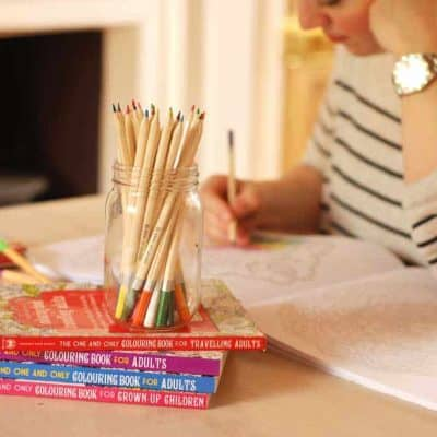 simple things can include colouring in or knitting