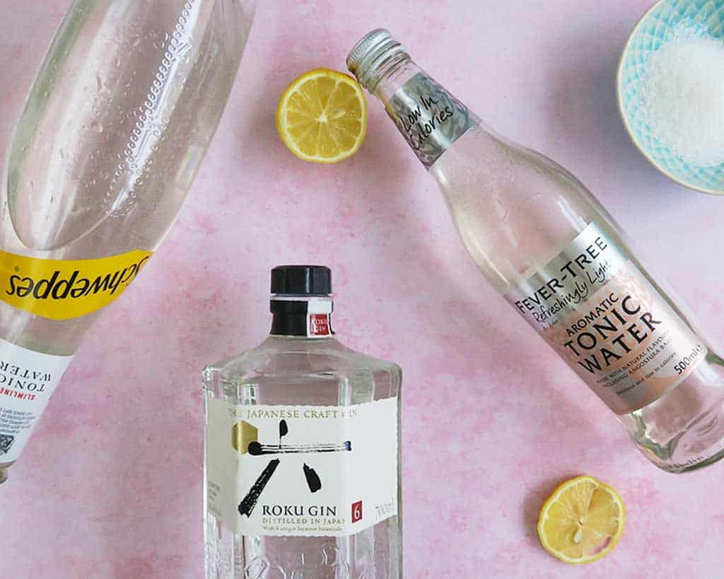 All the ingredients you'll need for this Gin and Tonic Ice Lolly recipe
