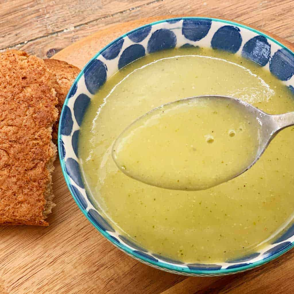 A recipe for Easy Peasy Courgette Leek and Potato Soup