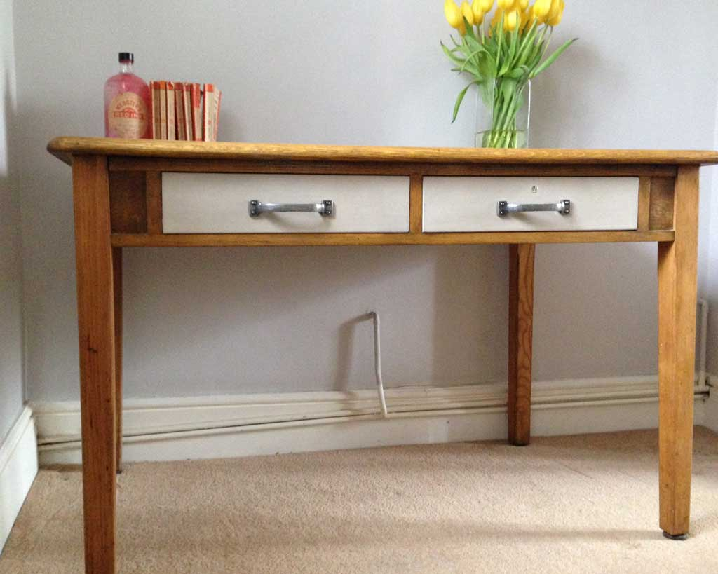 Upcycle An Old Desk with Chalk Paint