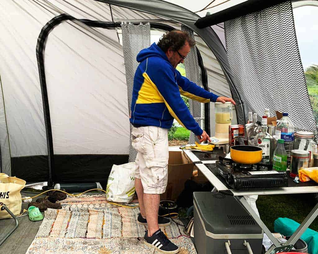 the OLPRO View 420 Caravan Inflatable Porch Awning