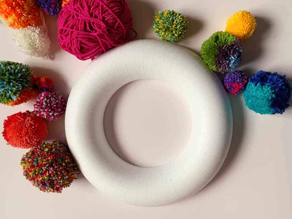 Polystyrene ring is great for ,making wreaths
