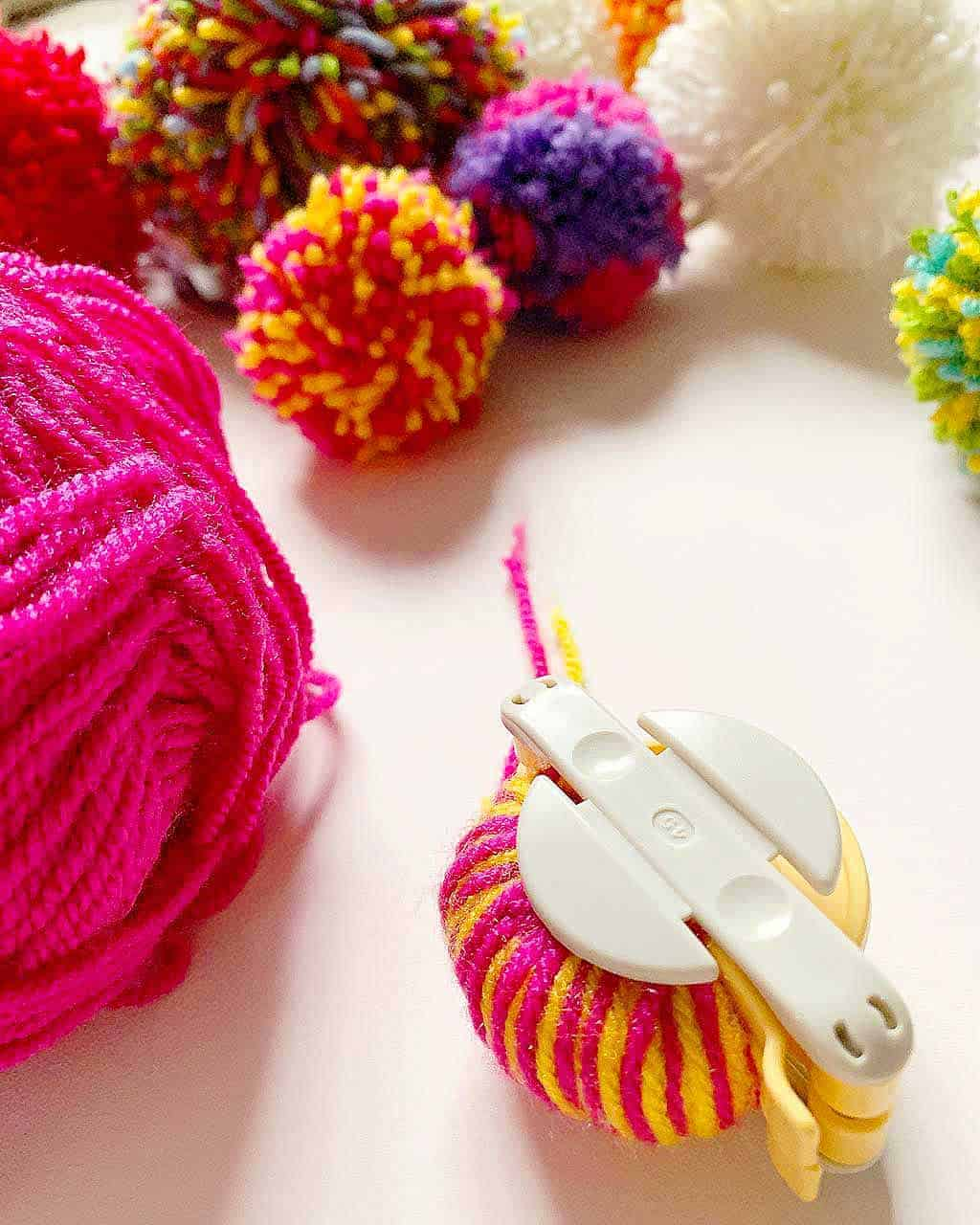 Pom pom makers are a fantastic way of making pom poms quickly and easily!