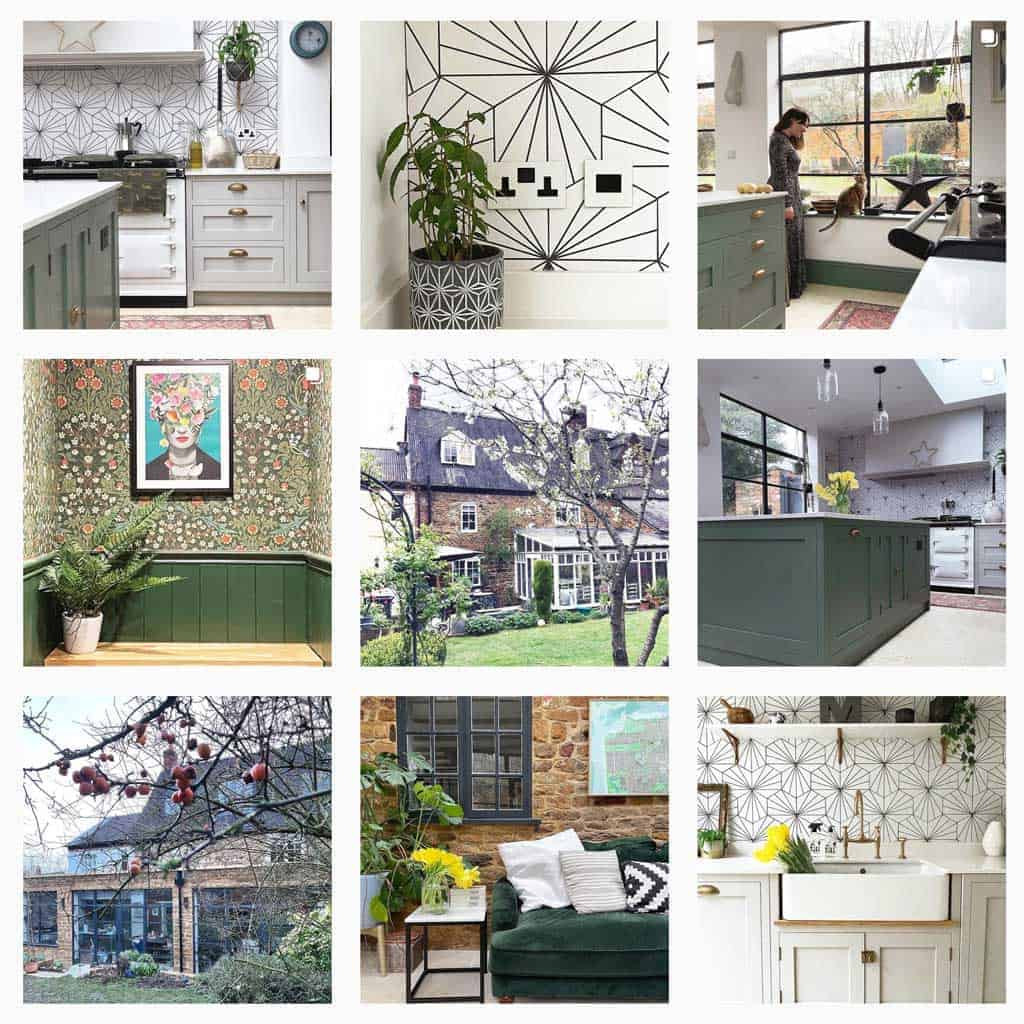 the listed home images on Instagram