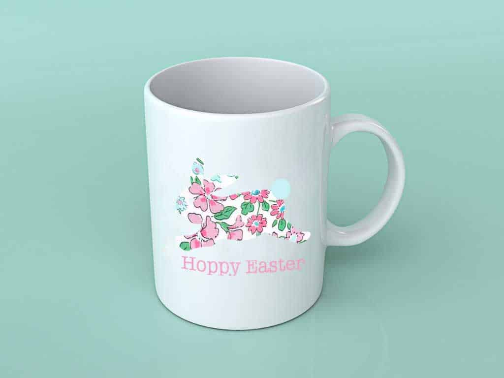 Easter bunny mug idea using my free Easter bunny png file