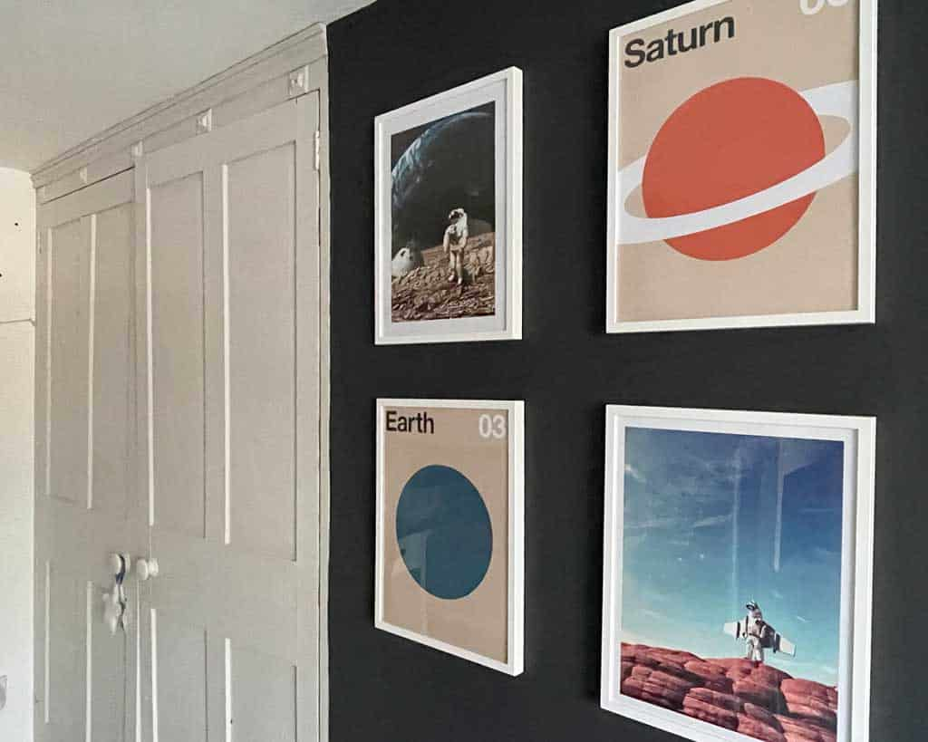 A space theme room is so easy to achieve with the addition of some lovely artwork.
