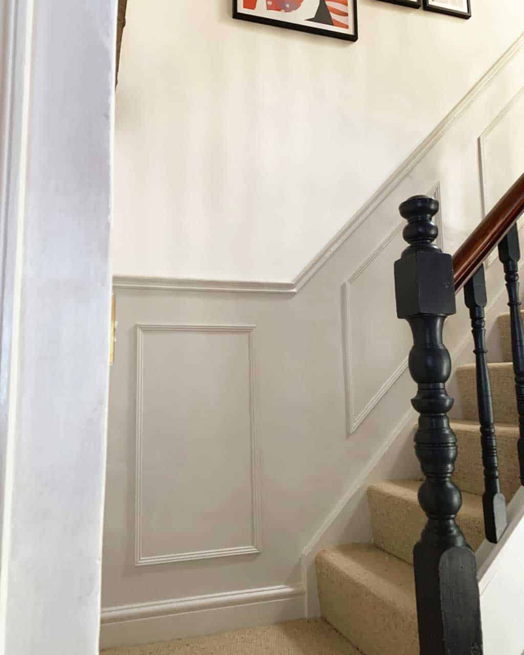 fake panelling staircase