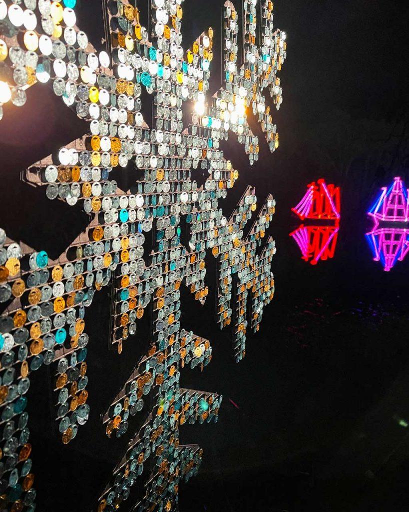 The Blenheim Palace Christmas lights
