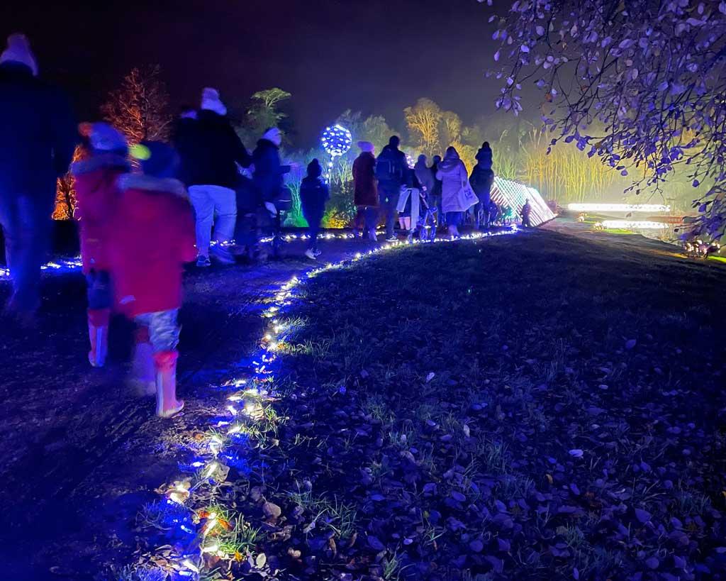The Blenheim Palace Christmas lights trail